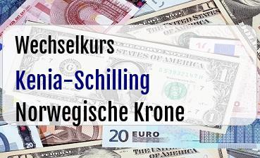 Kenia-Schilling in Norwegische Krone