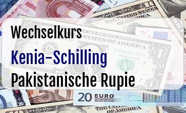 Kenia-Schilling in Pakistanische Rupie