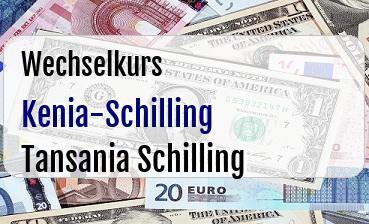 Kenia-Schilling in Tansania Schilling