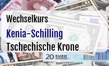 Kenia-Schilling in Tschechische Krone
