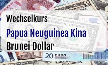 Papua Neuguinea Kina in Brunei Dollar