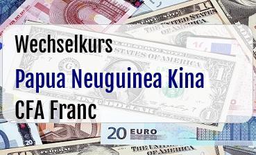 Papua Neuguinea Kina in CFA Franc