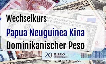 Papua Neuguinea Kina in Dominikanischer Peso