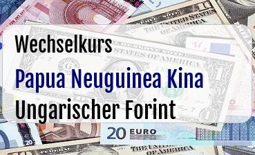 Papua Neuguinea Kina in Ungarischer Forint
