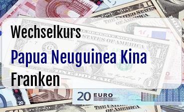 Papua Neuguinea Kina in Schweizer Franken