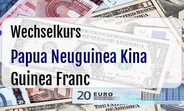 Papua Neuguinea Kina in Guinea Franc