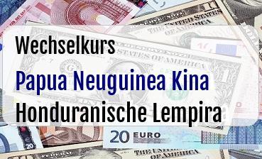 Papua Neuguinea Kina in Honduranische Lempira