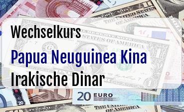 Papua Neuguinea Kina in Irakische Dinar