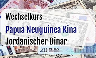Papua Neuguinea Kina in Jordanischer Dinar