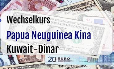 Papua Neuguinea Kina in Kuwait-Dinar