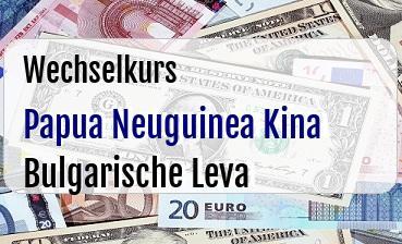 Papua Neuguinea Kina in Bulgarische Leva