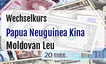 Papua Neuguinea Kina in Moldovan Leu