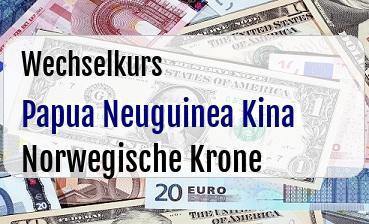 Papua Neuguinea Kina in Norwegische Krone