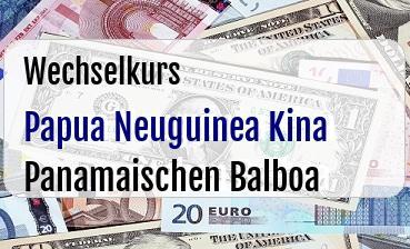 Papua Neuguinea Kina in Panamaischen Balboa