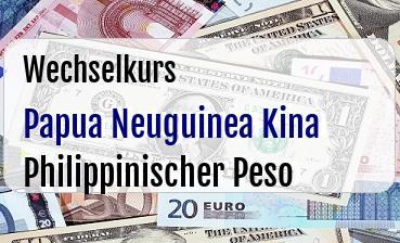 Papua Neuguinea Kina in Philippinischer Peso