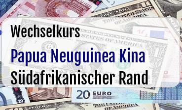 Papua Neuguinea Kina in Südafrikanischer Rand