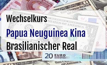 Papua Neuguinea Kina in Brasilianischer Real
