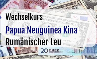 Papua Neuguinea Kina in Rumänischer Leu