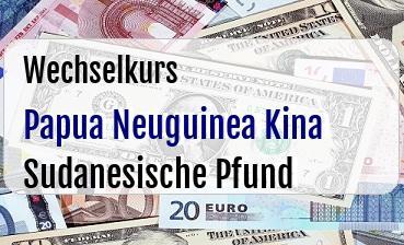 Papua Neuguinea Kina in Sudanesische Pfund