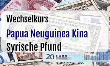 Papua Neuguinea Kina in Syrische Pfund