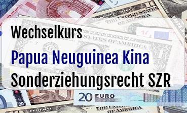 Papua Neuguinea Kina in Sonderziehungsrecht SZR