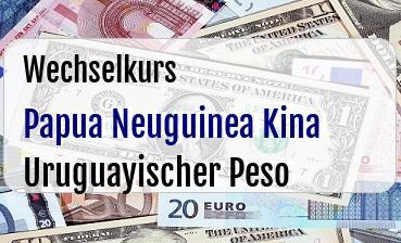 Papua Neuguinea Kina in Uruguayischer Peso