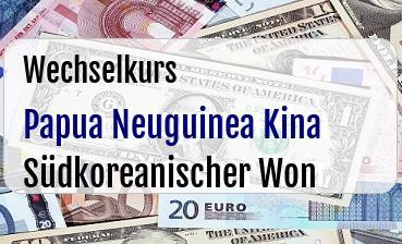 Papua Neuguinea Kina in Südkoreanischer Won