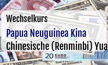 Papua Neuguinea Kina in Chinesische (Renminbi) Yuan