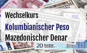 Kolumbianischer Peso in Mazedonischer Denar