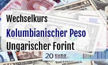 Kolumbianischer Peso in Ungarischer Forint
