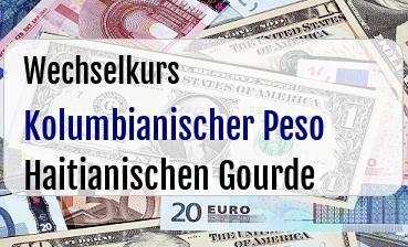 Kolumbianischer Peso in Haitianischen Gourde