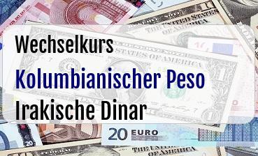 Kolumbianischer Peso in Irakische Dinar