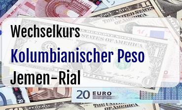 Kolumbianischer Peso in Jemen-Rial