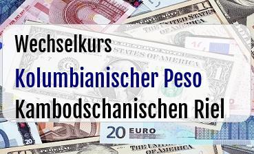 Kolumbianischer Peso in Kambodschanischen Riel