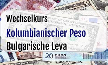 Kolumbianischer Peso in Bulgarische Leva