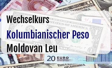 Kolumbianischer Peso in Moldovan Leu