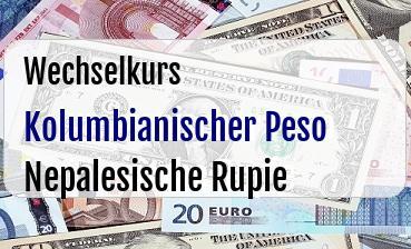 Kolumbianischer Peso in Nepalesische Rupie