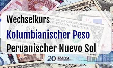 Kolumbianischer Peso in Peruanischer Nuevo Sol