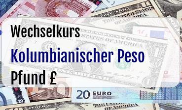 Kolumbianischer Peso in Britische Pfund