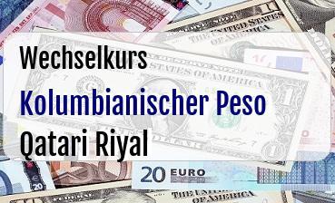 Kolumbianischer Peso in Qatari Riyal