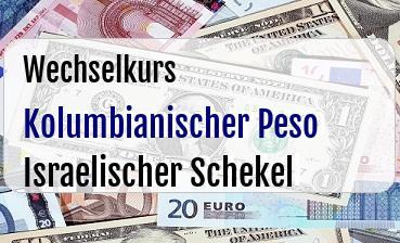 Kolumbianischer Peso in Israelischer Schekel