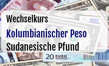 Kolumbianischer Peso in Sudanesische Pfund