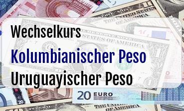 Kolumbianischer Peso in Uruguayischer Peso