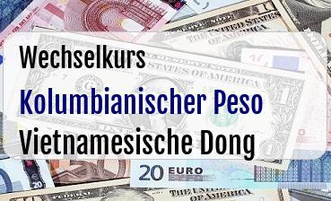 Kolumbianischer Peso in Vietnamesische Dong