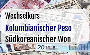 Kolumbianischer Peso in Südkoreanischer Won
