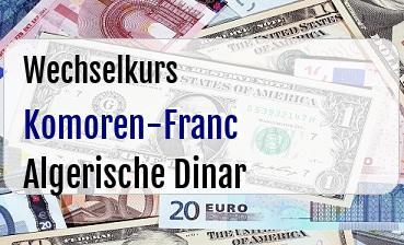 Komoren-Franc in Algerische Dinar