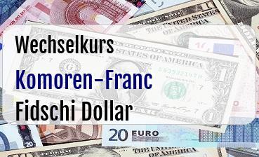 Komoren-Franc in Fidschi Dollar