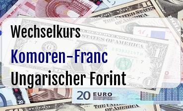 Komoren-Franc in Ungarischer Forint