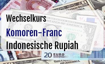 Komoren-Franc in Indonesische Rupiah