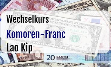 Komoren-Franc in Lao Kip